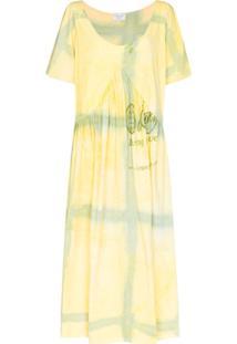 Collina Strada Vestido Mariposa Princess Tie-Dye - Amarelo