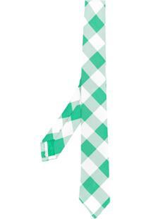 Thom Browne Gravata Xadrez - Verde