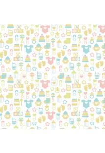 Papel De Parede Quartinhos Infantil Texturizado Baby 2,70X0,57M - Tricae