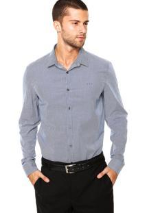 Camisa Calvin Klein Jeans Listrada Azul