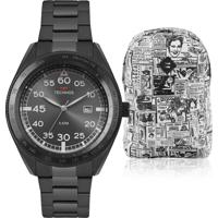 0eeb5f330997f Kit Relógio Masculino Technos Com Mochila Advert2115Mrm