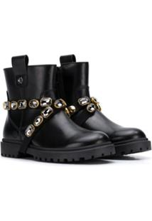 Florens Jewel-Strap Ankle Boots - Preto