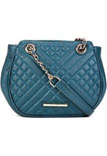 Bolsa Clutch Jorge Bischoff Floter Feminina - Feminino-Azul Escuro