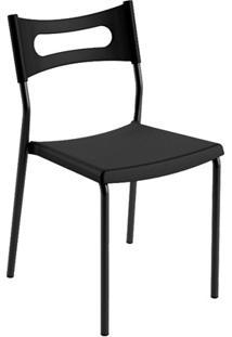 Cadeira Em Polipropileno Easy 41X49Cm Preta