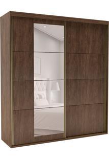 Guarda-Roupa Casal Com Espelho Eleganza L 2 Pt 4 Gv Marsala
