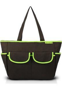 Bolsa De Lisa - Jacki Design - Feminino-Preto+Verde