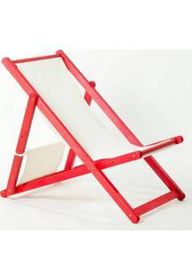 Cadeira Dobrável Sem Braços Opi Tec.01.237 Vermelho Mão E Formão