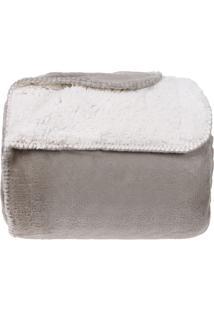 Cobertor Casal Sherpa Pele De Carneiro E Plush Dupla Face - Oxford