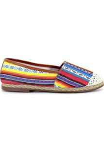 Alpargata Royalz Crochê Tribal - Feminino-Vermelho+Azul