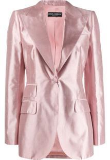Dolce & Gabbana Blazer De Alfaiataria - Rosa