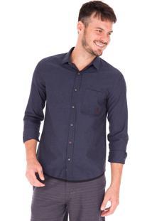 Camisa Manga Longa Side Walk Camisa Listra Horizontal Marrom