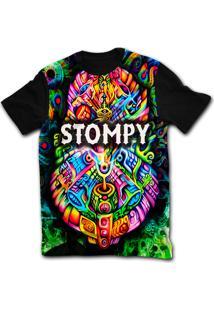 Camiseta Manga Curta Stompy Psicodelica 32 Preto