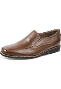Sapato Social Side Gore Sandro Moscoloni Relax Feet Anti Stress Com Palmilha Magnética Marrom Claro