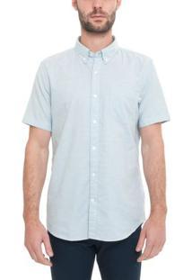 Camisa Manga Curta Pleasant River Oxford