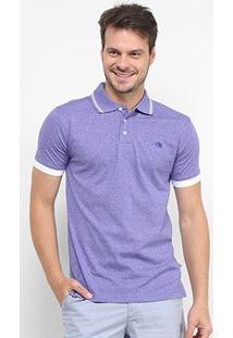 Camisa Polo Gajang Básica Masculina - Masculino-Azul
