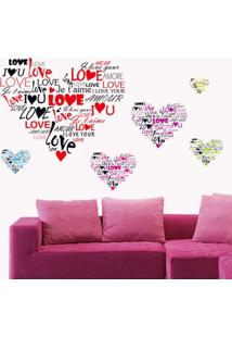 Adesivo De Parede Divanet Love Colorido