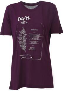 Camiseta Carmim Elements Roxa