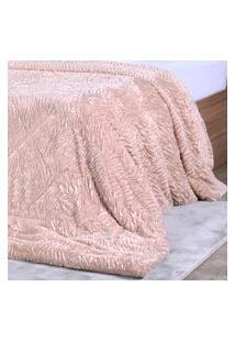 Cobertor Slim Peles Casal Com Porta Travesseiro Taupe - Tessi
