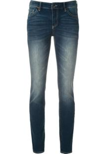 Armani Exchange Calça Jeans Super Skinny - Azul