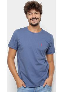 Camiseta Coca-Cola Estampa Garrafa Masculina - Masculino-Marinho