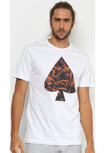 Camiseta Mcd Regular Vulcano Masculina - Masculino-Branco