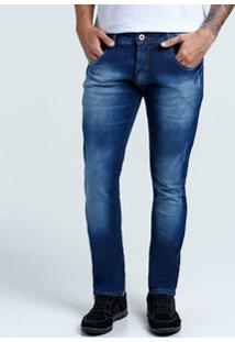 Calça Masculina Jeans Slim Puídos Biotipo
