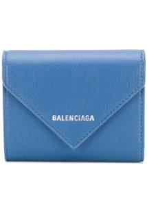 Balenciaga Carteira Compacta Papier - Azul