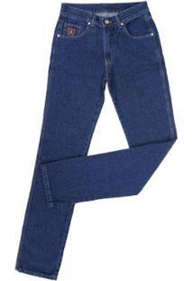 Calça Jeans Docks Tradicional Masculina - Masculino-Azul