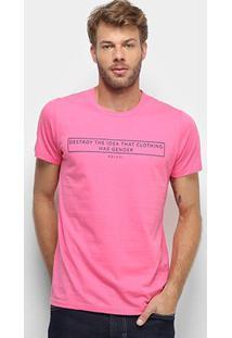 Camiseta Colcci Clothes Has Not Gender Masculina - Masculino-Rosa