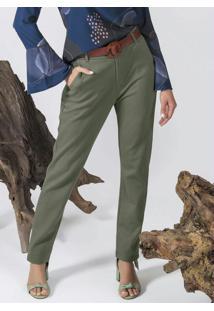Calça Feminina Com Modelagem Reta Verde