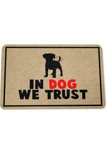 Capacho Ecológico In Dog We Trust Geek10 - Multicolorido