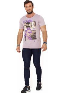 Camiseta Wolke Gola Careca Lavada Reflection