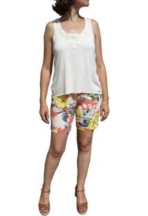 Pijama Curto Inspirate Floral - Feminino