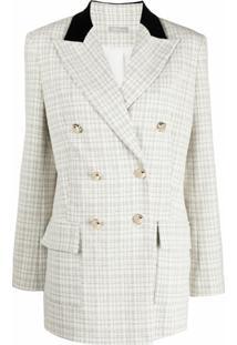 12 Storeez Jaqueta De Tweed Com Abotoamento Duplo - Branco