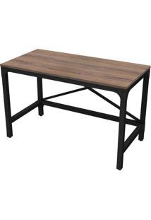 Escrivaninha Retangular Steel- Arizona & Preta- 75X1Artesano Moveis
