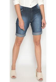 Bermuda Jeans Estonada- Azul- Sisalsisal
