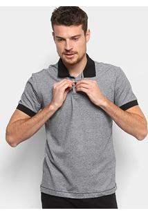 Camisa Polo Coca-Cola Mescla Color Masculina - Masculino-Cinza+Preto