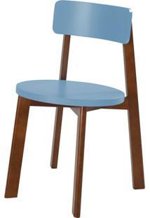 Cadeira Lina Cor Cacau Com Azul Serenata - 35854 - Sun House