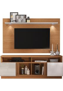 Conjunto Rack Com Painel Para Tv De 65''Polegadas Itapuã – Colibri - Natural Real / Off White