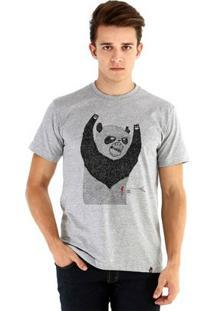 Camiseta Ouroboros Manga Curta Pandassauro - Masculino-Cinza