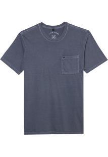 Camiseta John John Rx Pocket Basic Mid Navy Malha Azul Masculina (Mid Navy, P)