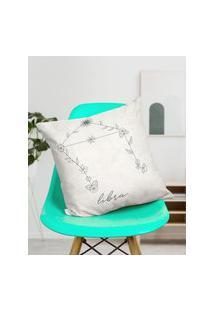 Amaro Feminino Design Up Living Capa De Almofada Signo 42X42, Libra