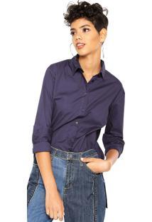 Camisa Calvin Klein Jeans Recortes Azul