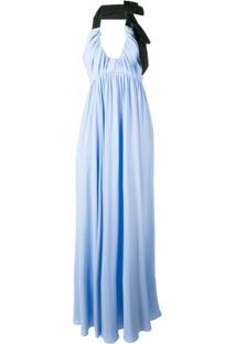 Nº21 Vestido De Festa Frente Única - Azul