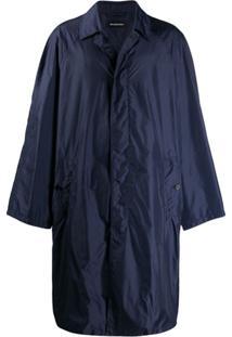 Balenciaga Sobretudo Oversized - Azul