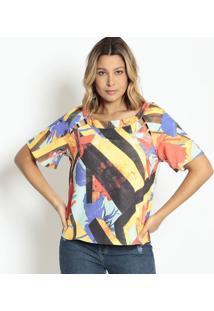 Blusa Com Vazados - Amarela & Vermelha - Morena Rosamorena Rosa