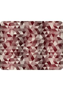 Tapete Love Decor Sala Wevans Multi Triã¢Ngulos Vermelhos ÚNico - Vermelho - Dafiti