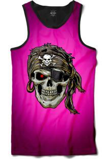 ... Camiseta Insane 10 Regata Caveira Pirata Sublimada Preto Rosa fd4dc522910