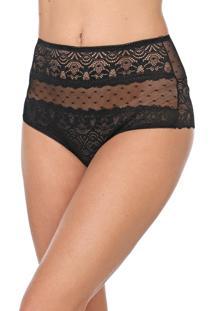 Calcinha Calvin Klein Underwear Hot Pant Renda Preta