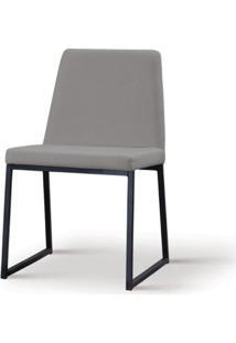 Cadeira Graty Cinza Base Preta - 55864 - Sun House